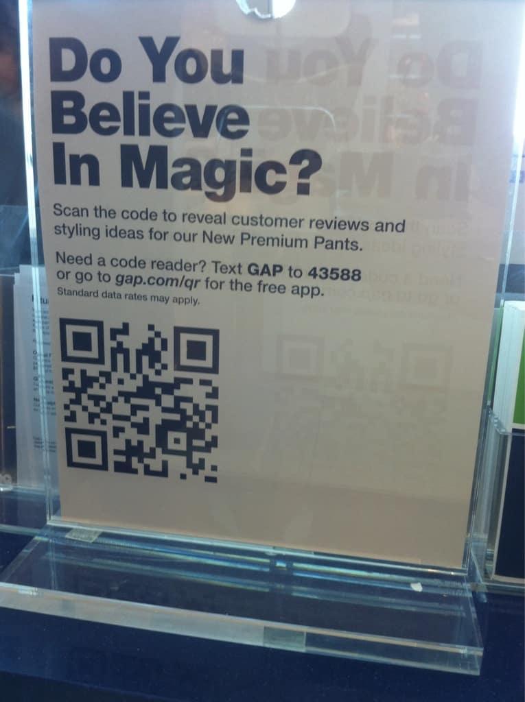 QRCodeexampleGap O que é possível fazer com QR code? - Fred Alecrim